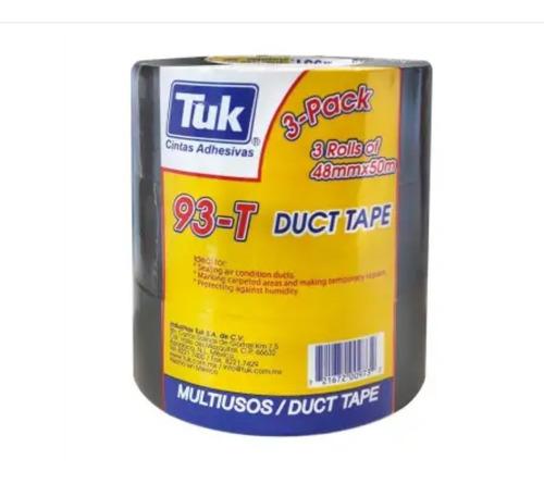 Imagen 1 de 3 de Cinta Adhesiva Para Ductos Tuk 93t Gris 48 Mm X 50 M - 3 Pza
