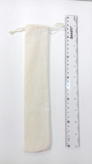 100 Bolsitas Morral Manta 6x25cms Para Popotes Y Abanicos