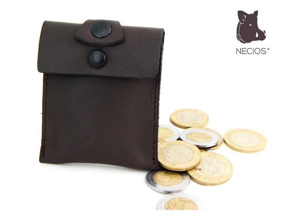 Monedero Amplio Piel Leather Monedas Cuero Guardar