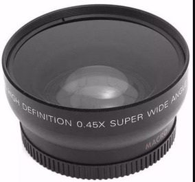Lente Grande Angular/macro Ø52mm Hd Nikon, Canon, Fuji, Sony