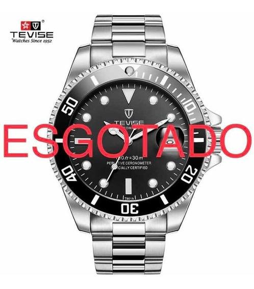 Relógio Maculino Tevise T801 Promoção Últimas Unidade Brinde