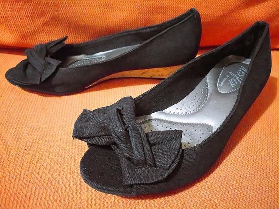 Zapatos Vestir Wedge Lona Dexflex By Dexter No. 22 Niña Dama