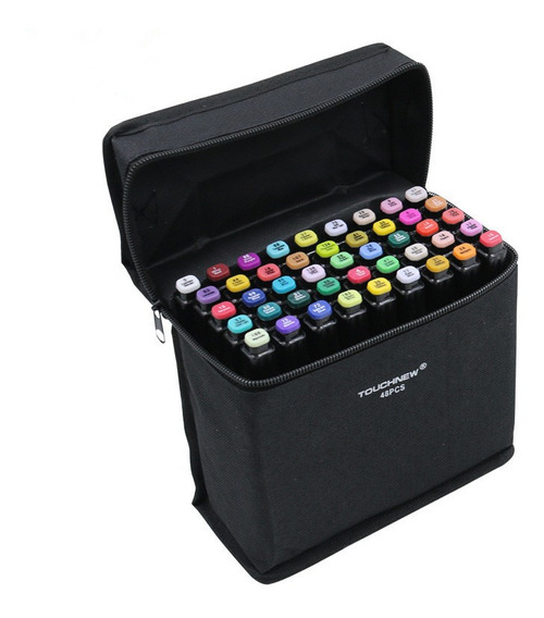 Touch Five Marker Pen Kit De 40 Colores Común Negro