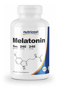 5 Mg Melatonina Nutricost, 240 Cápsulas - Regular Ciclo Su