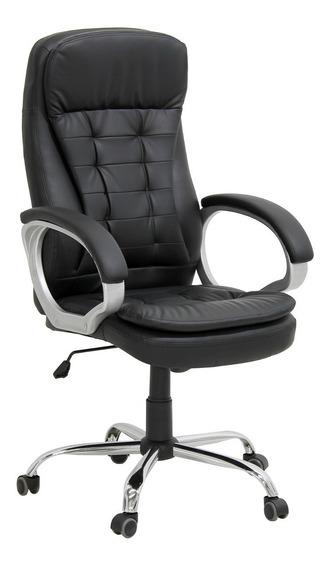 Cadeira Giratória Poltrona Presidente Em Couro Pu