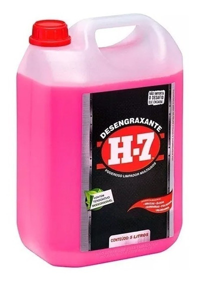 Desengraxante H-7 Galão 5 Litros Para Sujeiras Pesadas
