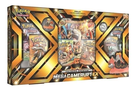 Box Pokémon Premium Mega Camerupt-ex / Mega Sharpedo-ex