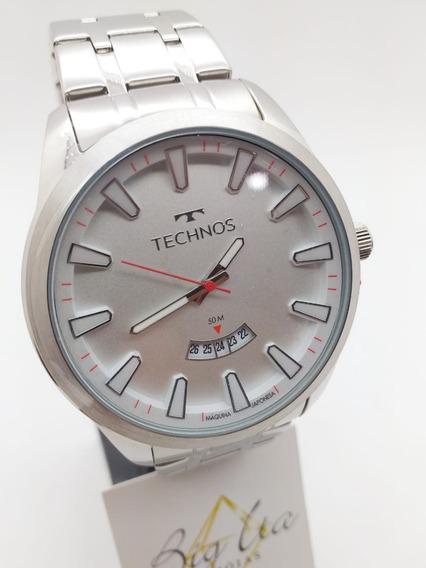 Relógio Technos Racer Masculino Prateado 2115kzb/1b