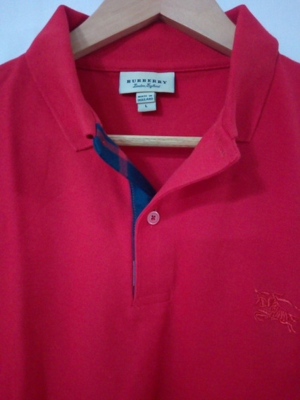 Playera Burberry Tono Rojo