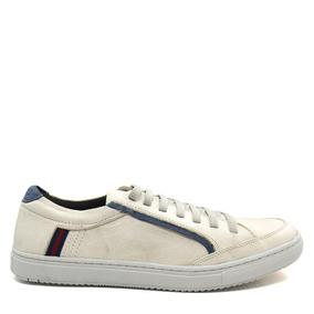 Sapatênis Masculino Em Couro Olfer Shoes 1747 Elástico