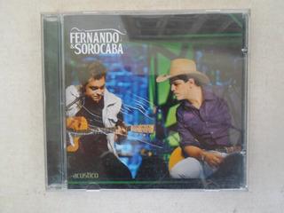 Cd Fernando & Sorocaba Acústico - Excelente Estado!