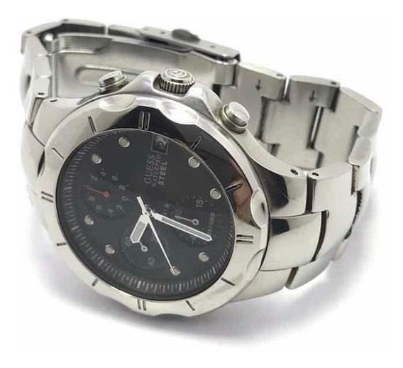 Relógio Guess Analógico Aço E Visor Preto I10121g1 - 10atm