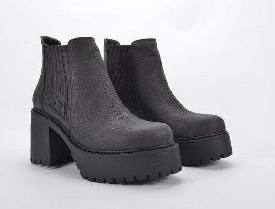 Botas Botitas Plataforma Mujer Cuero Dama Lauretta Zapatos