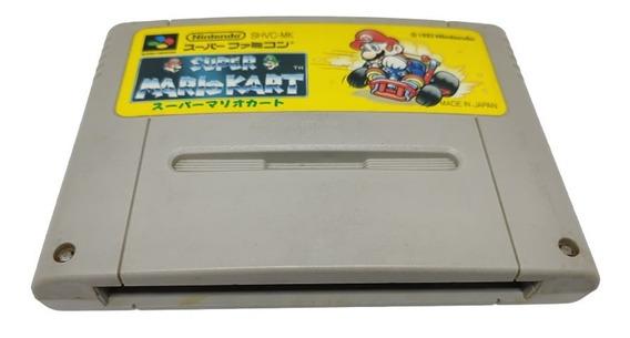 Fita Cartucho Super Nintendo Super Mario Kart Na Caixa