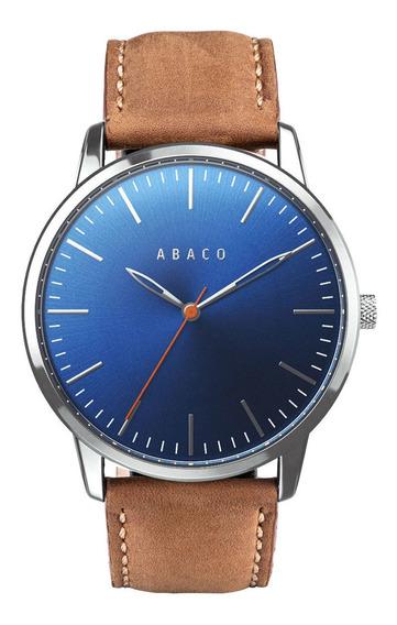 Reloj Hombre Pulsera Sumergible Azul Elegante Abaco Caja