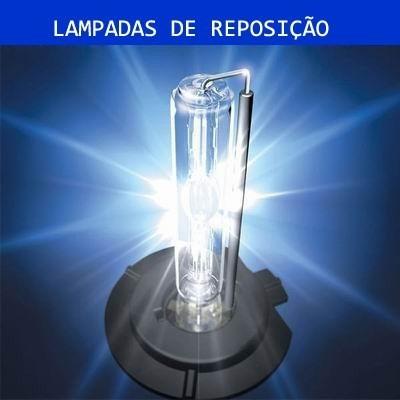 04 Lâmpadas Xenon Reposição H1 - 12.000k Branca Farol Milha