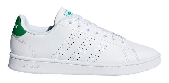 Tenis adidas Advantage Clean Blanco/verde Escolar Unisex Comodos Casuales/deportivos