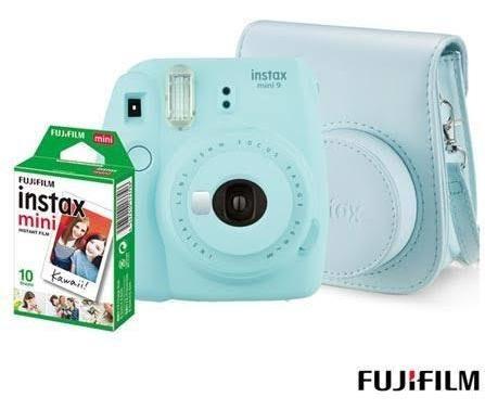 Instax Mini 9 Instantanea Azul Aqua Fujifilm Grátis 20 Filme