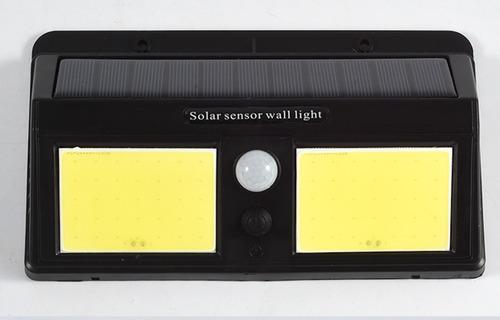 Reflector Lámpara Solar Doble Cob 60leds Sensor Movimiento