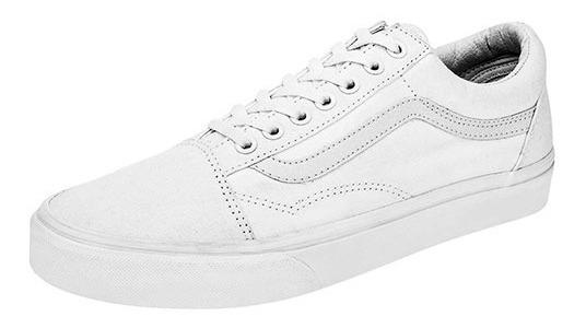 Tenis Vans Old Skool Blanco Tallas #25 A #29 Hombre