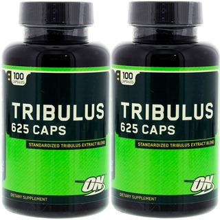 2 Tribulus 625 Optimum Nutrition Original 100cáps Cada Validade Longa