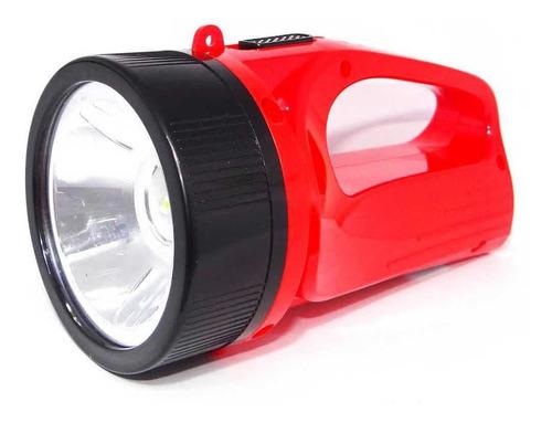 Lanterna De Mão Com Super Led 710-b C/  Bateria Recarregável