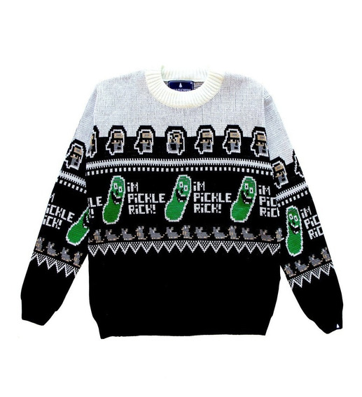 Pickle Rick - Sweater Hombre Y Mujer Oficial Rick And Morty