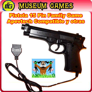 Pistola 15 Pin Family Game Compatible Apevtech -no Lcd-