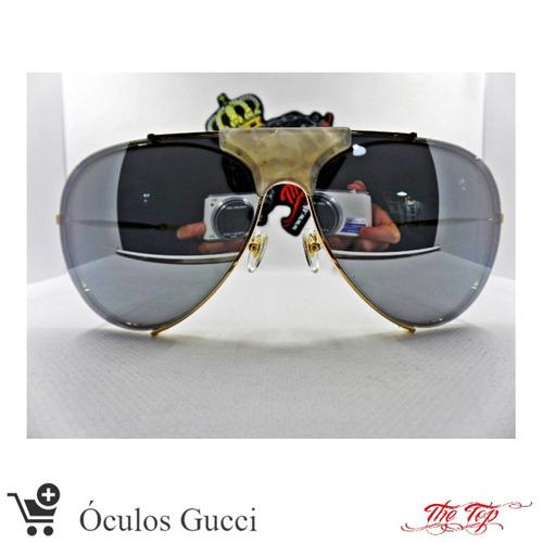 adcc1ee0c Oculos De Sol Gucci Aviador no Mercado Livre Brasil