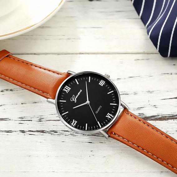 Relógio Luxo Geneva Importado Com Caixinha
