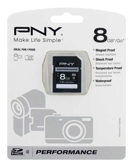 Cartão De Memória Pny 8gb Class 4