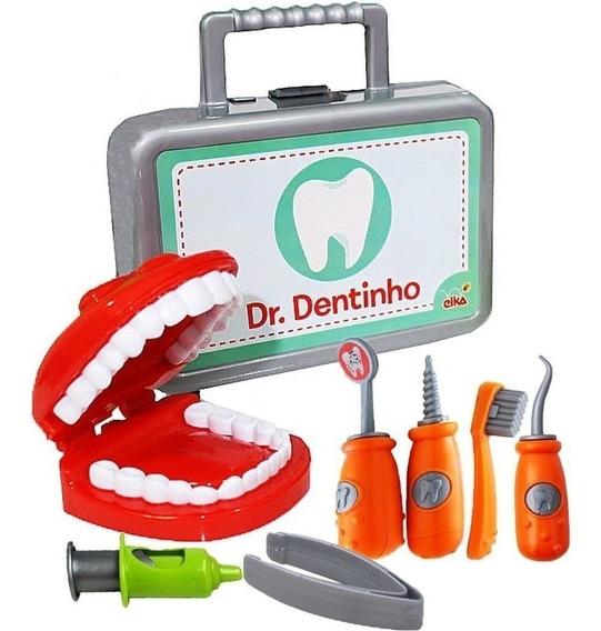 Kit Dentista Educativo Ensina Escovar Dente Infantil Criança