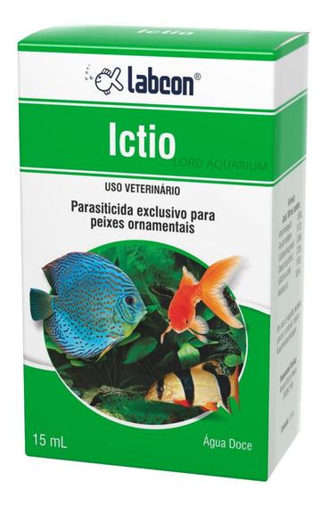Labcon Ictio 15ml Alcon Aquario E Peixe Tratamento Agua Doce