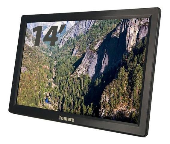 Tv Digital Portátil Tela Monitor 14 Pol Led Hdmi - Mtm-1410
