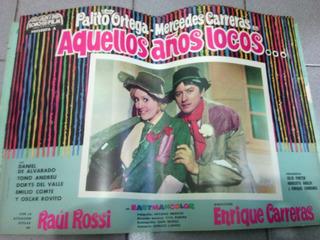 Afiche Pelicula Aquellos Años Locos Palito Ortega 1