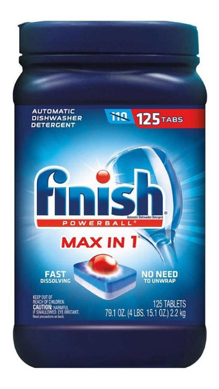 Finish Powerball Max (125 Pastillas) Detergente Lavavajillas