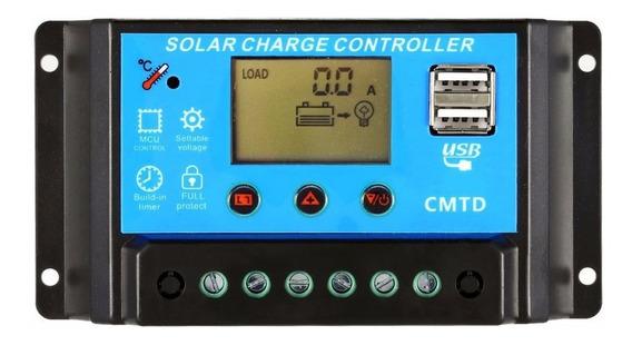 Controlador Solar Carga Pwm 30a - Proteção 50v Solar +