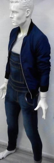 Overol De Mezclilla En Azul Marino Para Hombre