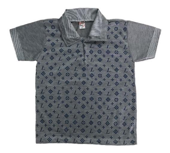 10 Camisa Camiseta Blusa Polo Infantil Menino Roupas Atacado