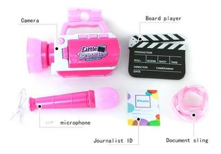 Camara Video Juguete Para Niños Youtuber Reporteros Rosa