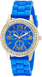 Reloj Xoxo Xo8082 Analógico Pantalla Analógico De Cuarzo Azu