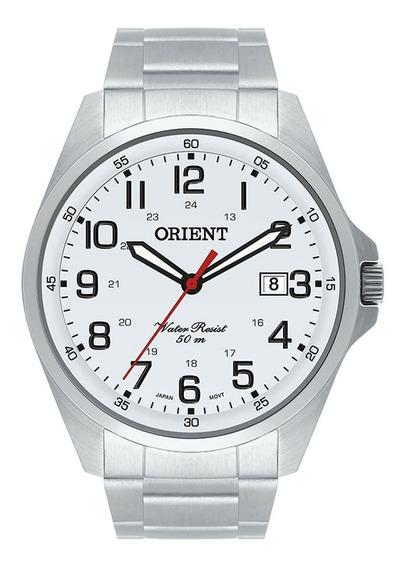 Relógio De Pulso Orient Original Prata Clássico Mbss1171