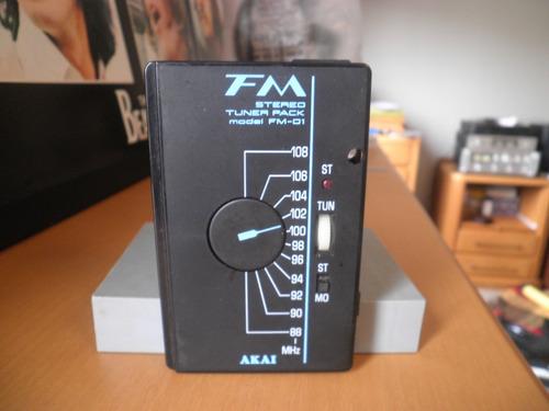 Fita K7 Cassete Rádio Fm Akai Model Fm-01 Made Japan
