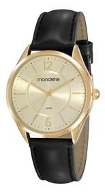 Relógio Com Pulseira De Couro Mondaine Original 53781lpmvdh1