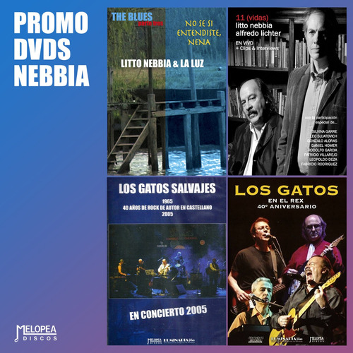 Pack 4 Dvds Litto Nebbia - Los Gatos