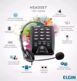 Telefone Headset Fone C/ Microfone Elgin - Hst6000 C Defeito