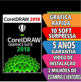 Corel Draw Graphics Suite 2018 +corel Draw 2018+5 Anos