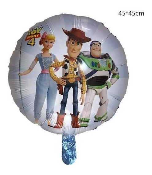 12 Globos Toy Story 4 Woody Buzz Lightyear 45 Cms