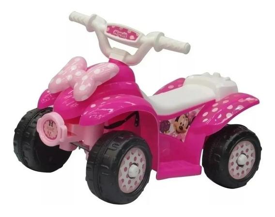 Cuatriciclo Moto Auto Bateria 6v Minnie Disney Dencar @ Mca