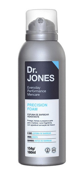 Espuma De Barbear Hidratante Precision Foam Dr Jones 160ml